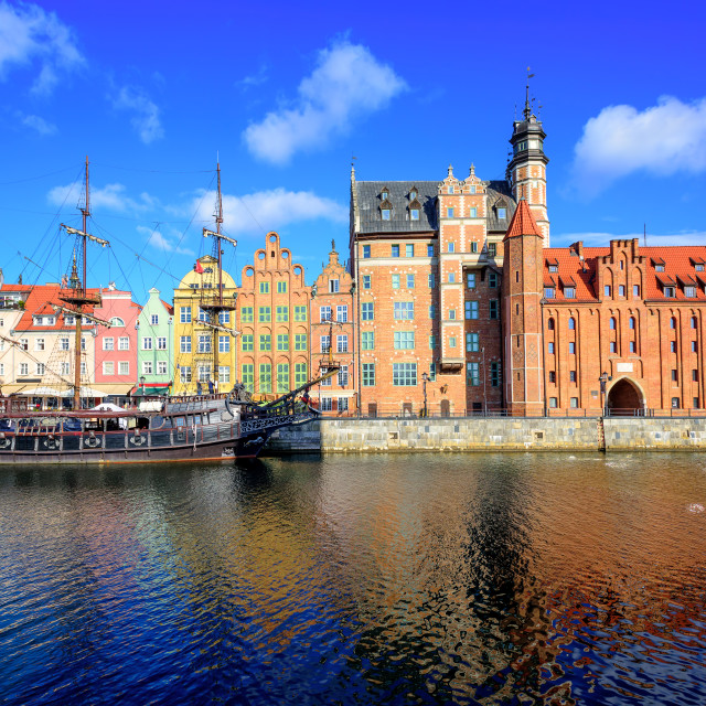 """""""Gdansk Main Town from the river, Poland"""" stock image"""