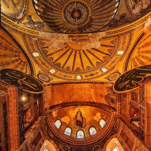 """The Dome of Hagia Sophia, Istanbul, Turkey"" stock image"