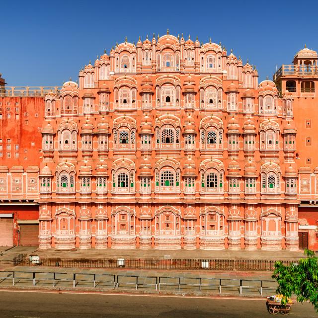 """Palace of Winds, Hawa Mahal, Jaipur, India"" stock image"