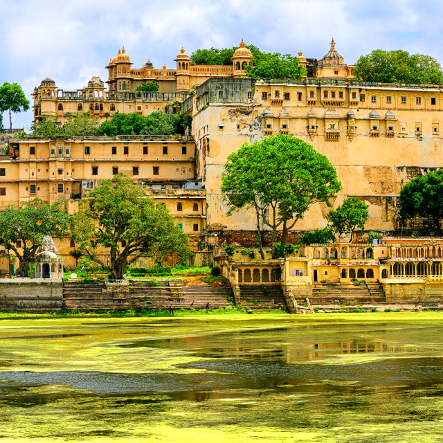 """Maharajah Palace in Udaipur city, India"" stock image"