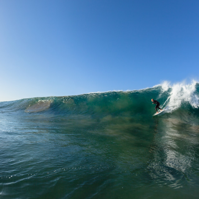 """""""Surfer Wave Drop Water Photo"""" stock image"""