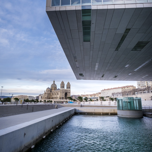 """Contemporary Architecture of the Villa Mediterranée Conference"" stock image"