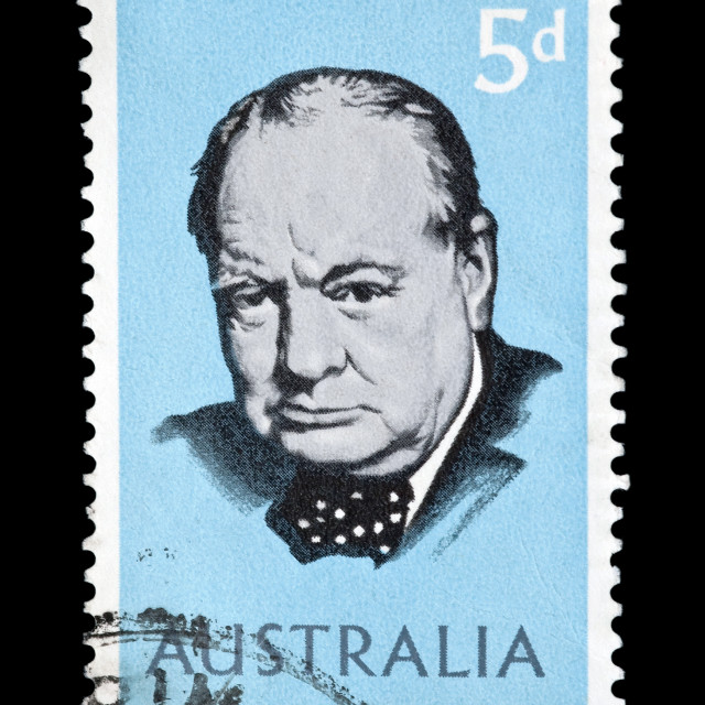 """Winston Churchill"" stock image"