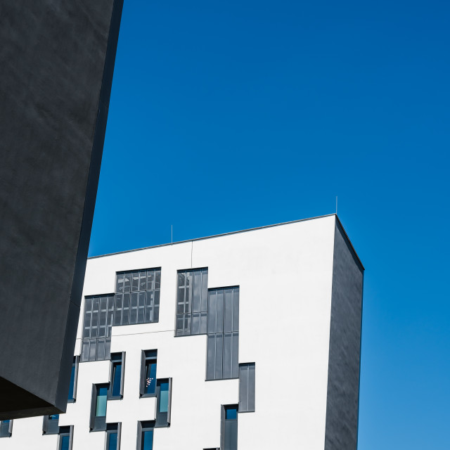 """Modern architecture building in the University of Vienna"" stock image"
