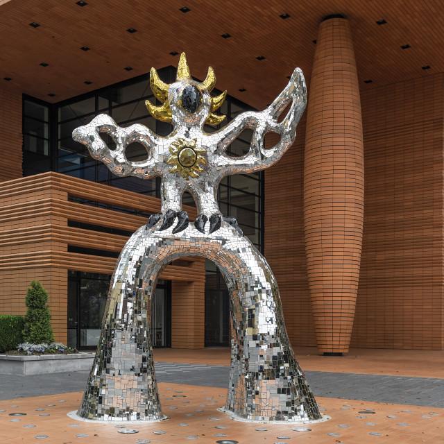 """""""Firebird sculpture at the Bechtler Museum of Modern Art, Charlotte"""" stock image"""