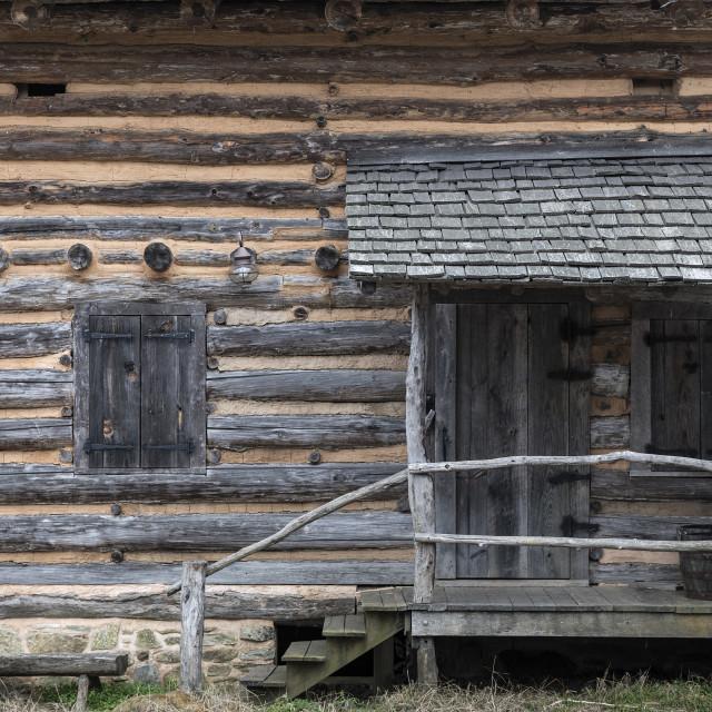 """""""Revolutionary War Davidson Fort, Old Fort, North Carolina"""" stock image"""