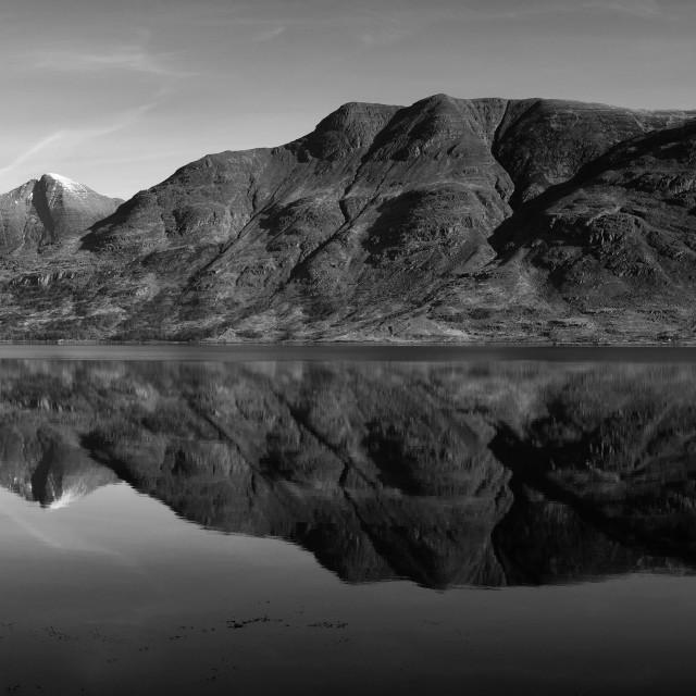 """""""Upper Loch Torridon"""" stock image"""