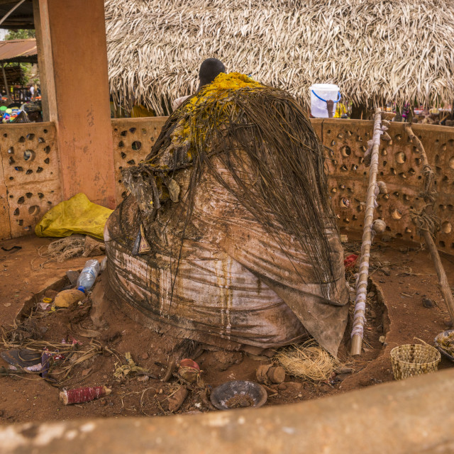 """Benin, West Africa, Adjara, legba fetish on a market"" stock image"