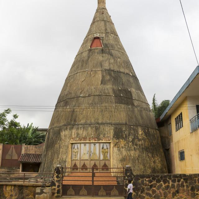 """Benin, West Africa, Porto-Novo, zangbeto temple"" stock image"