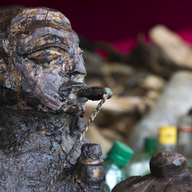 """Benin, West Africa, Bonhicon, statue sold on a voodoo market"" stock image"