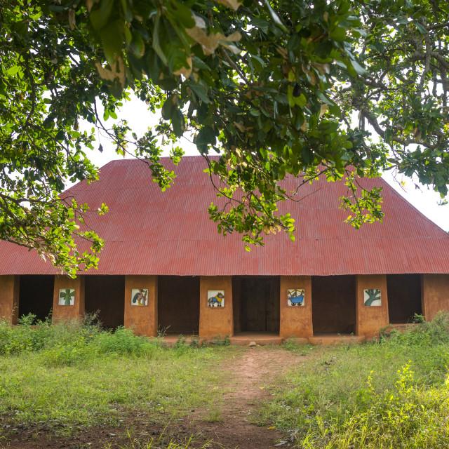 """Benin, West Africa, Abomey, former king palace"" stock image"
