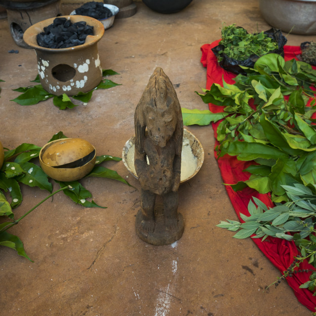 """Benin, West Africa, Bonhicon, stuff used for a voodoo ceremony"" stock image"