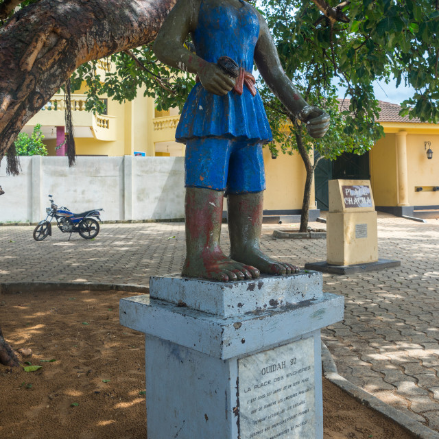 """""""Benin, West Africa, Ouidah, chacha place for slave auctions"""" stock image"""