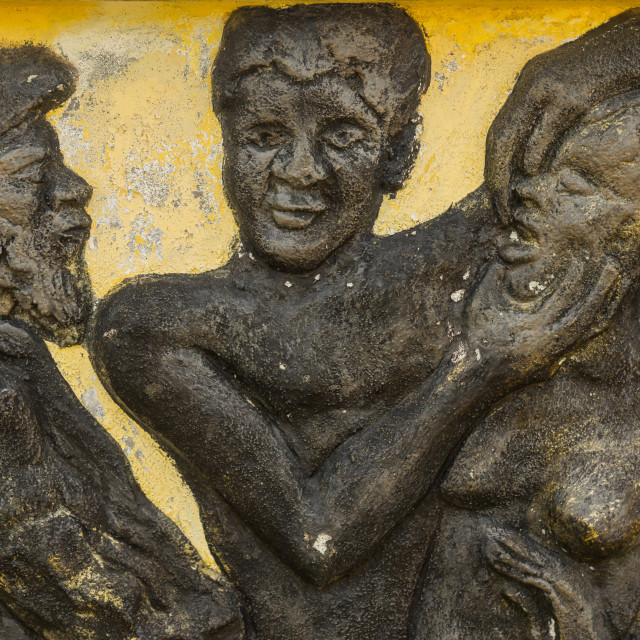 """""""Benin, West Africa, Ouidah, the memorial zomachi on the slave trail showing a..."""" stock image"""