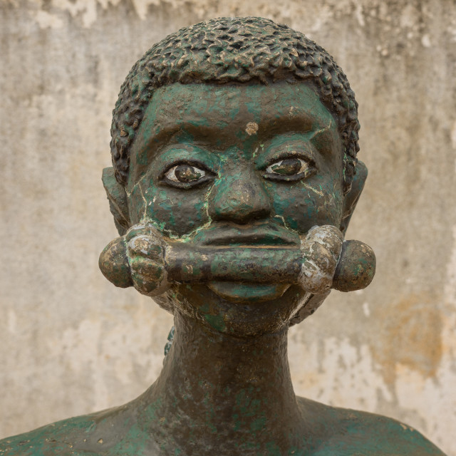 """""""Benin, West Africa, Ouidah, slave statue on the slave trail"""" stock image"""
