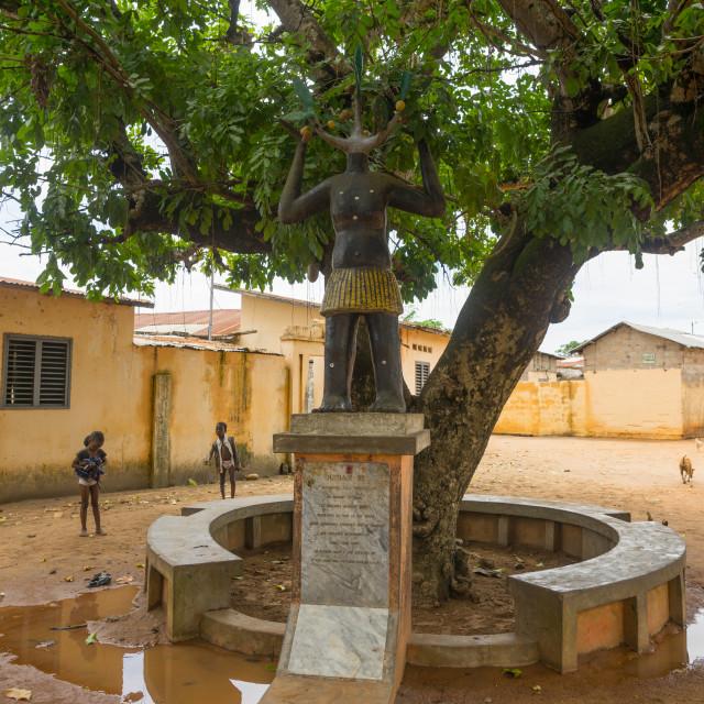 """Benin, West Africa, Ouidah, arbre du retour on the slave trail"" stock image"