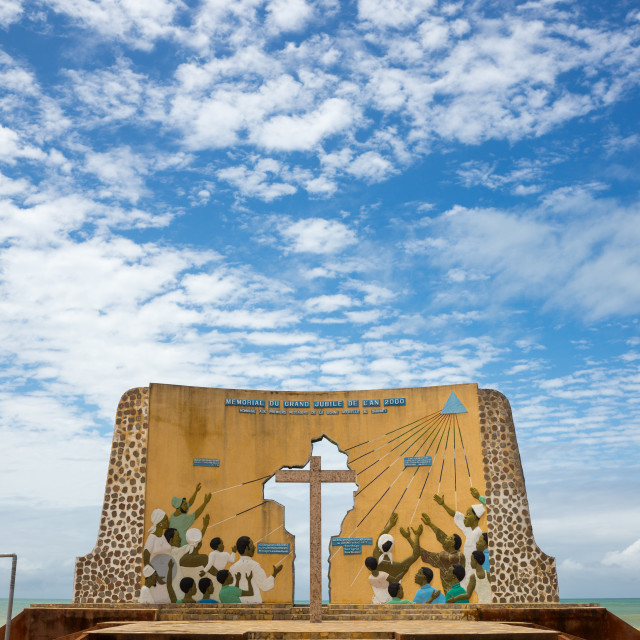 """Benin, West Africa, Ouidah, the memorial of the grand jubilee of 2000"" stock image"