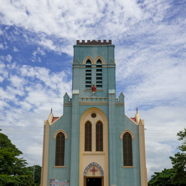"""Benin, West Africa, Ouidah, first catholic church in west africa"" stock image"