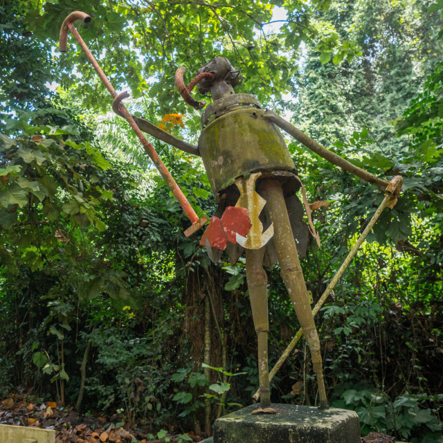 """Benin, West Africa, Ouidah, voodoo statue in the sacred forest of kpasse"" stock image"
