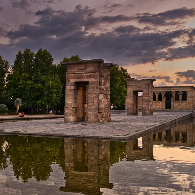 """""""Temple of Debod"""" stock image"""