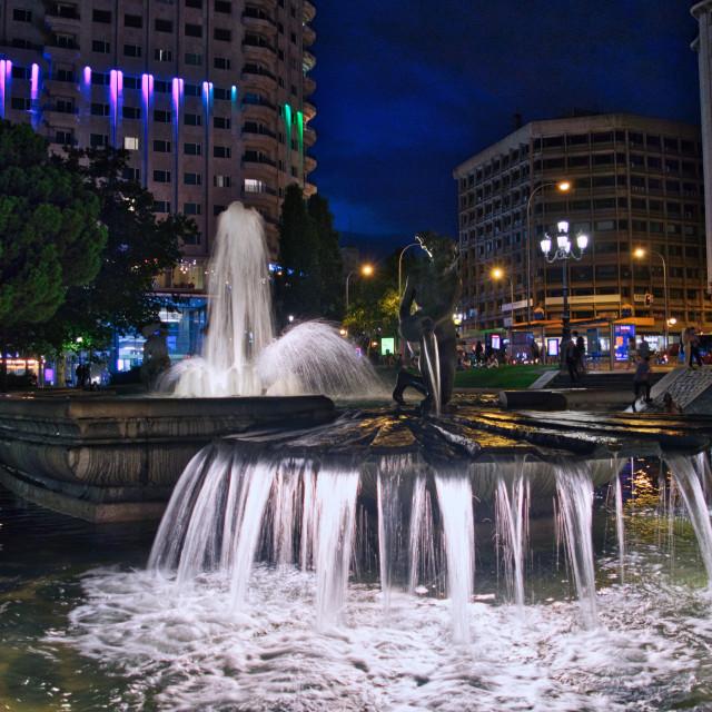 """""""Plaza de Espana fountains"""" stock image"""