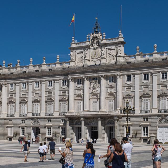 """The Royal Palace of Madrid"" stock image"