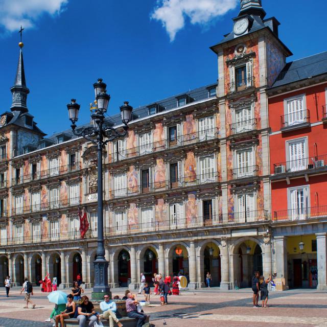 """""""Plaza Mayor, Madrid"""" stock image"""