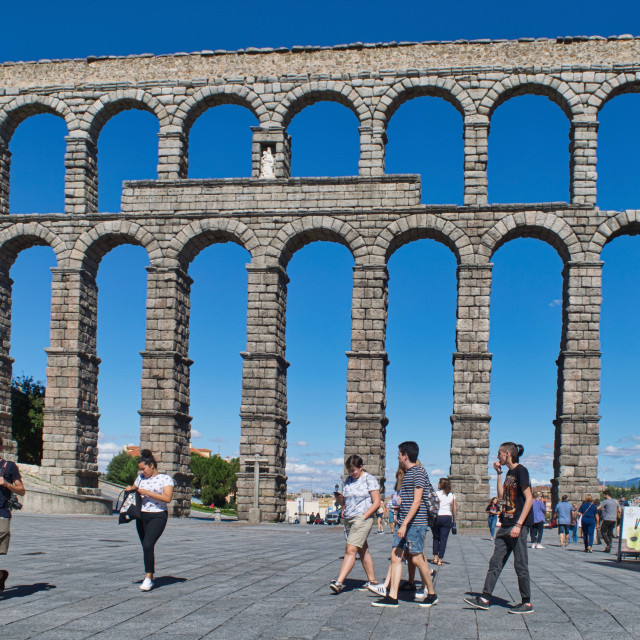 """Aqueduct of Segovia"" stock image"