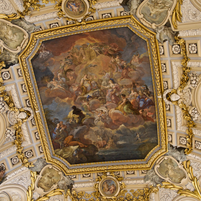 """""""Ceiling in the Royal Palace of Madrid"""" stock image"""
