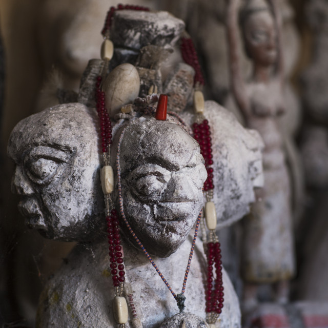 """Benin, West Africa, Bonhicon, statues sold on a voodoo market"" stock image"