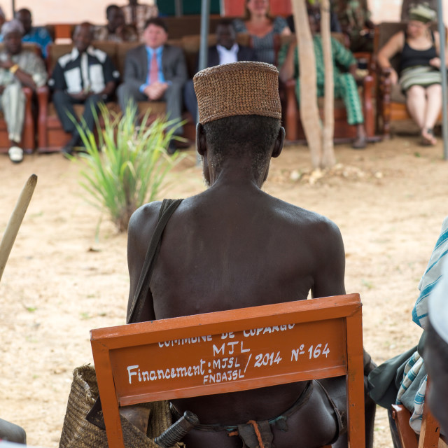 """""""Benin, West Africa, Taneka-Koko, traditional healers with american cultural..."""" stock image"""