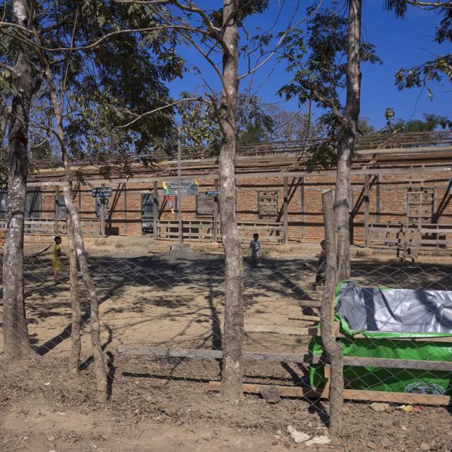 """Building A New School, Mrauk U, Myanmar"" stock image"