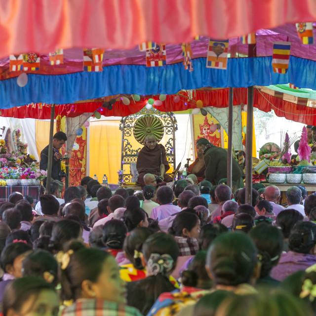 """""""Novitation Ceremony, Mrauk U, Myanmar"""" stock image"""