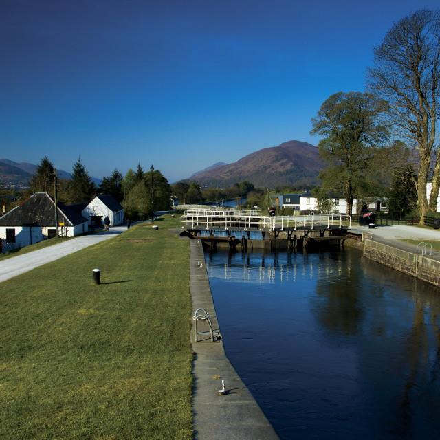 """Caledonian Canal"" stock image"