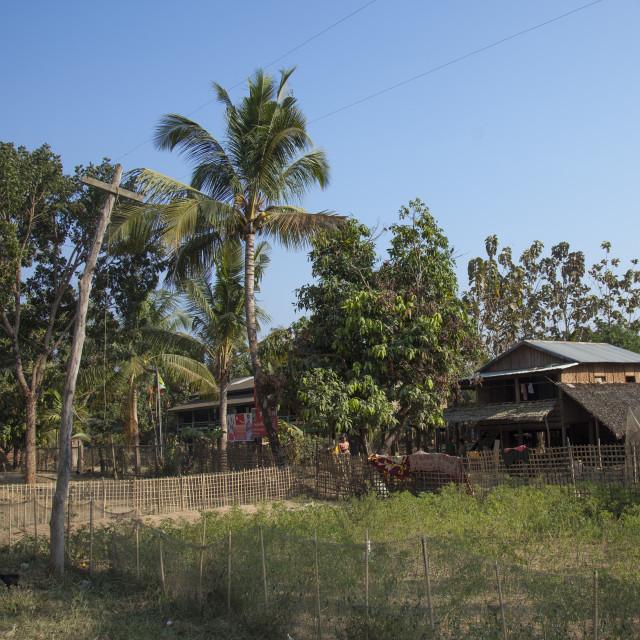 """Rohingya Village Attacked By Extremists Buddhists, Thandwe, Myanmar"" stock image"
