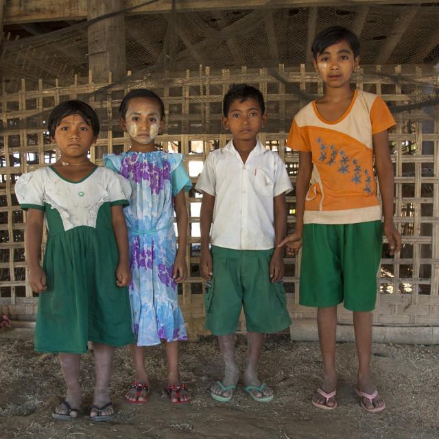 """""""Rohingya Children, Thandwe, Myanmar"""" stock image"""