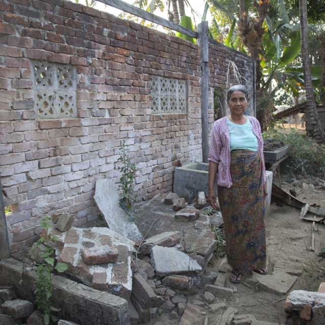 """""""Rohingya Woman In Her Former House Burnt By 969 Extremists Buddhists,..."""" stock image"""