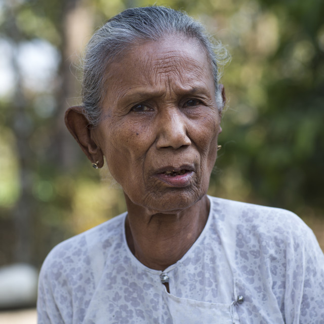 """""""Rohingya Old Woman, Thandwe, Myanmar"""" stock image"""