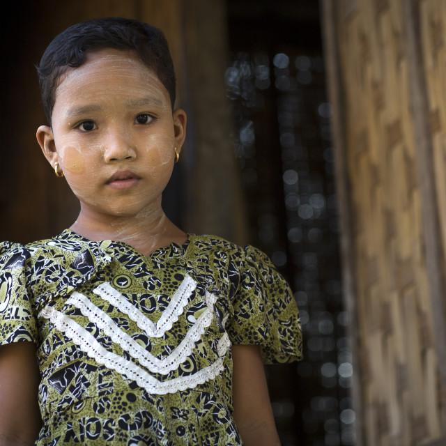 """""""Rohingya Little Girl, Thandwe, Myanmar"""" stock image"""