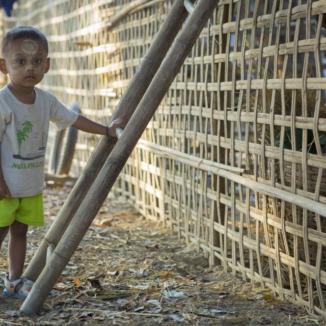 """""""Rohingya Boy, Thandwe, Myanmar"""" stock image"""