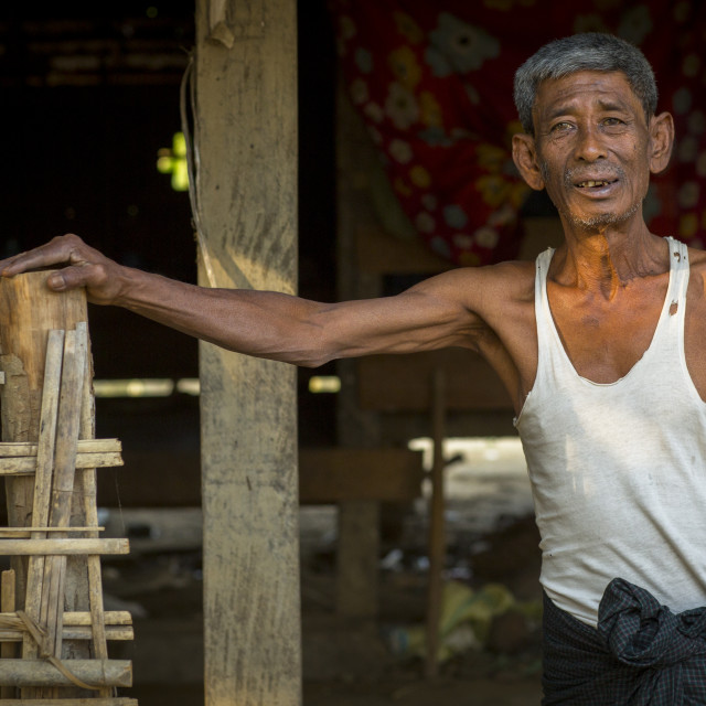 """Rohingya Old Man, Thandwe, Myanmar"" stock image"