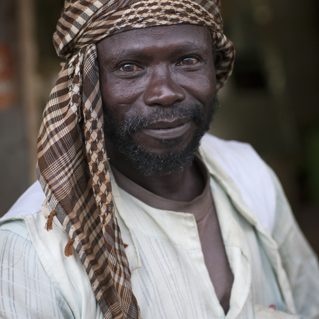 """Eritrea, Horn Of Africa, Keren, man with a headscarf"" stock image"