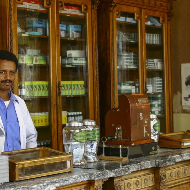 """""""Old Pharmacy In Asmara, Eritrea"""" stock image"""