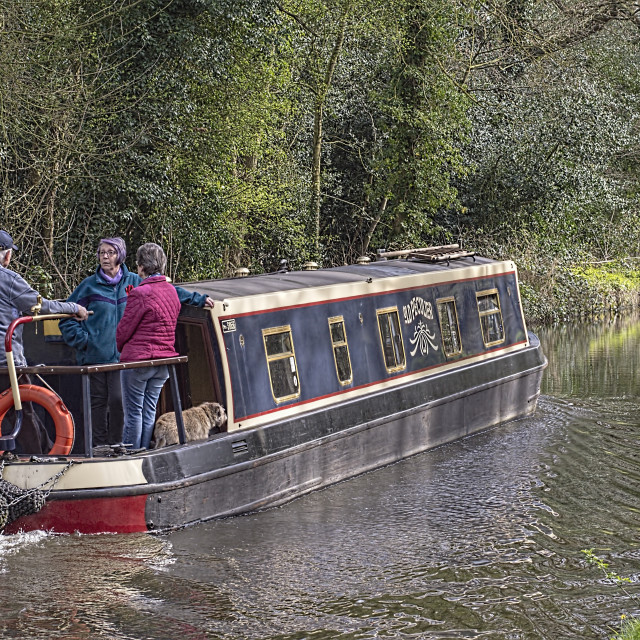 """""""Canal barge"""" stock image"""