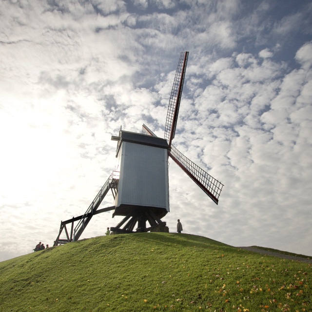 """""""Windmill on a Hill"""" stock image"""