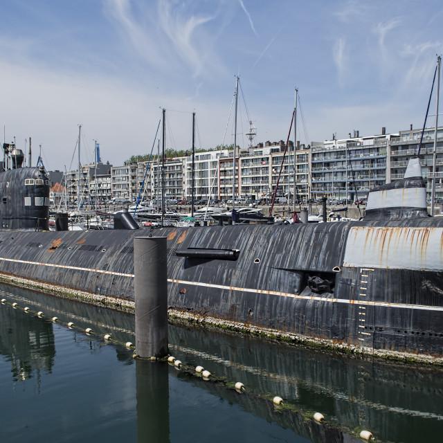 """Old Submarine."" stock image"