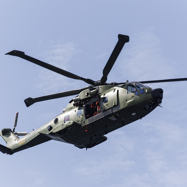 """""""An AW101 Helicopter"""" stock image"""