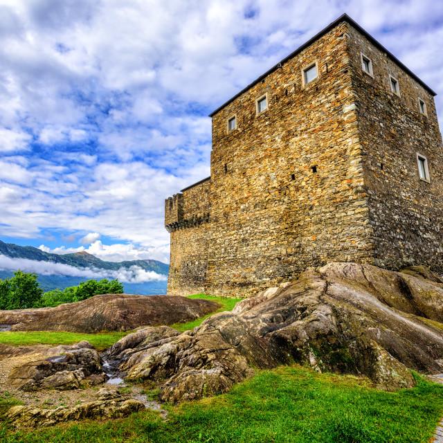 """""""Castel Sasso Corbaro, Bellinzona, Switzerland"""" stock image"""