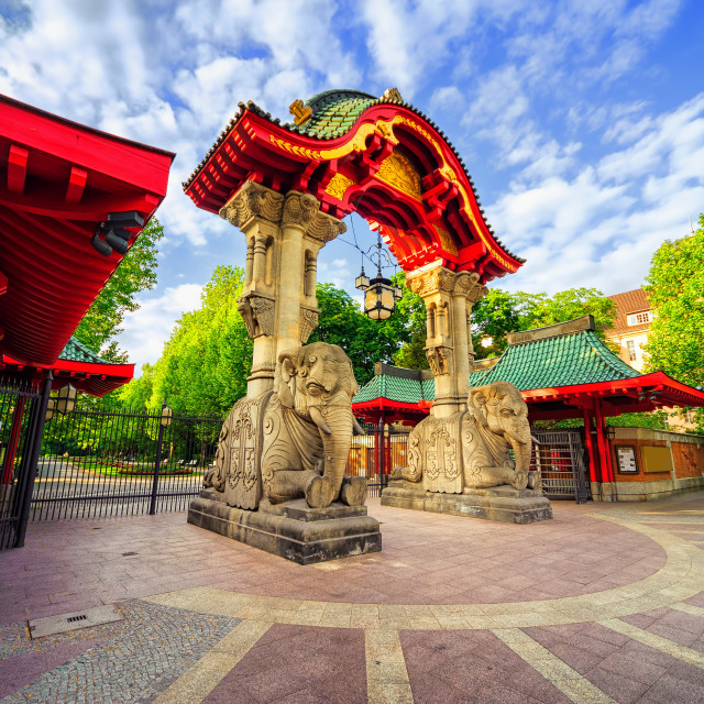 """""""Entrance to the Berlin Zoological Garden, Germany"""" stock image"""