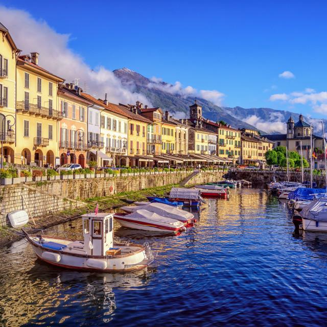 """Cannobio old town, Lago Maggiore, Italy"" stock image"